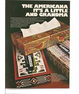 Vintage Ad 1971 Kleenex Tissues Americana Paul Revere Grandma Moses Folk... - $7.00