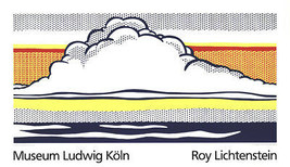 "ROY LICHTENSTEIN Cloud And Sea 27.5"" x 47"" Serigraph 1989 Pop Art White, - $116.88"