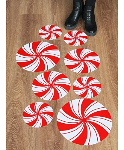 Peppermint Floor Decals Stickers For Christmas Candy Party