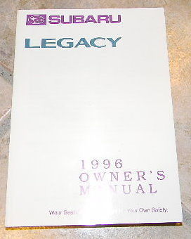 1996 subaru legacy owners manual new original