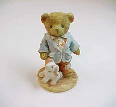 1991 Cherished Teddies Jeremy Bear with Bunny- Friends Like You Are Precious