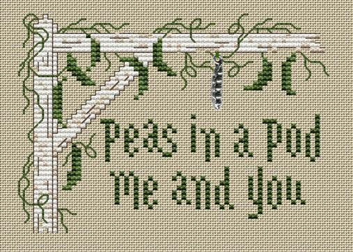 Evergreen Post Stitches cross stitch chart with charm Sue Hillis Designs