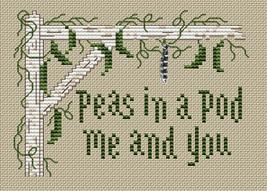 Evergreen Post Stitches cross stitch chart with charm Sue Hillis Designs image 1