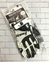 Franklin Sports Youth Flex Sz L Baseball Gloves Batting MLB Black White ... - $17.56