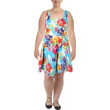 Lauren by Ralph Lauren Women's Sz 6 Floral Blue Dress 2919-3 - $46.27