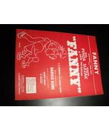 Sheet Music Fanny Harold Rome Ezio Pinza Walter Slezak 1954 Marcel Pagnol - $8.99