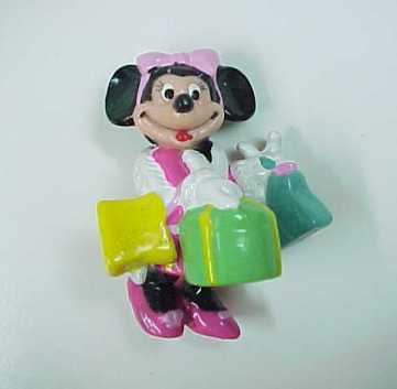 Vintage Disney Minnie Mouse in Pink High Heels Shopping PVC -Hong Kong