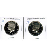1982-S and 1983-S Proof Kennedy Half Dollars CP2021A - $5.00