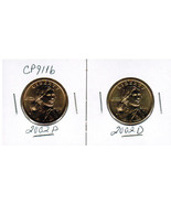 2002 P and D BU Sacagawea two coin set from US ... - $7.75