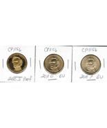 2010 3 Coin P, D, S Pierce Dollar Set CP1156 - $18.37 CAD