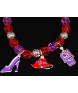 Red Hat Stretch Bracelet with Shoe, Hat & Suit Charms - $1.95