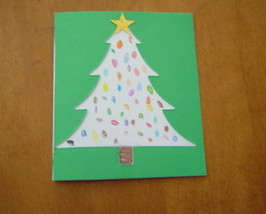 Handcrafted Christmas Tree Blank Card - $4.95
