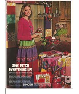 Vintage Ad 1971 Singer Sewing Machine One Touch Sewing - $5.00