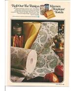 Vintage Ad 1971 Kleenex Boutique Paper Towels Paisley - $6.00