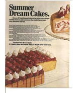 Vintage Ad 1971 Dream Whip Summer Cakes Recipes 2 pages - $6.00