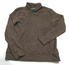 Tommy Hilfiger Sz XL Men's Shawl Collar Single Button Sweater Brown EUC - $29.70