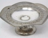 "Vintage Silverplated Compote Pedestal Candy Dish 6.5""H"