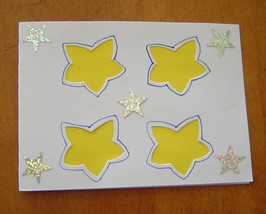 Your A Star, Thank You Card, Handcrafted scrap happy card - $4.95