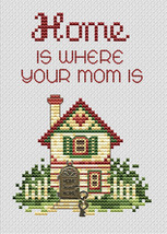 Home Is Where Post Stitches cross stitch chart with charm Sue Hillis Designs - $5.40