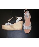 New Womens Lalline Leather Steve Madden Platform Wedge Espadrille 10 Tau... - $36.00