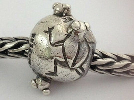Authentic Trollbeads Sterling Silver Retired Frogs Bead Charm 11208, New - $34.19