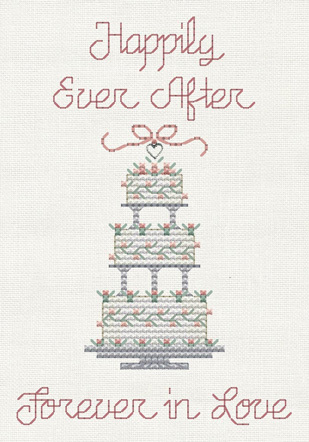 Happily Ever After Post Stitches cross stitch chart with charm Sue Hillis Design