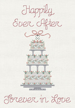 Happily Ever After Post Stitches cross stitch chart with charm Sue Hillis Design image 1