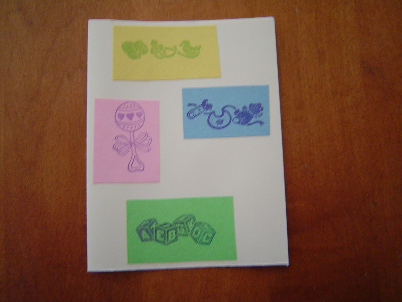 Primary image for Baby blank Card, Handcrafted scrap happy card