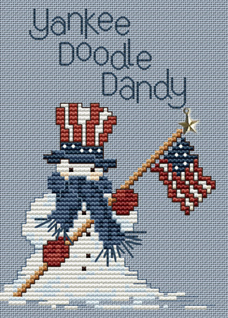 Yankee Doodle Dandy Post Stitche cross stitch chart with charm Sue Hillis Design