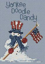 Yankee Doodle Dandy Post Stitche cross stitch chart with charm Sue Hillis Design image 1