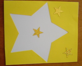 Your A Star Card, Handcrafted scrap happy card - $4.95