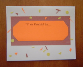 I am Thankful for...blank Card, Handcrafted scrap happy card - $4.95