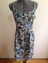 Hilo Hattie Vintage Hawaiian All Cotton Summer Floral Adjustable Strap D... - $17.35