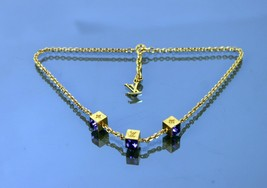 Auth Louis Vuitton LV Collier Gamble Cube Color Stone Necklace Accessories Used - $395.01