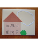 House Warming Card Handcrafted Scrap Happy Card - $4.95