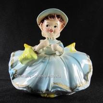 Vintage Napco Lady Planter #4J4595 Girl with Parasol Japan - $18.99