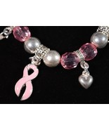 Pink Breast Cancer Awareness Stretch Bracelet R... - $2.00