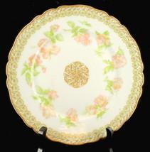Antique Haviland Limoges Cabinet Plate Rose Drop Variant Green Flowers - $94.49