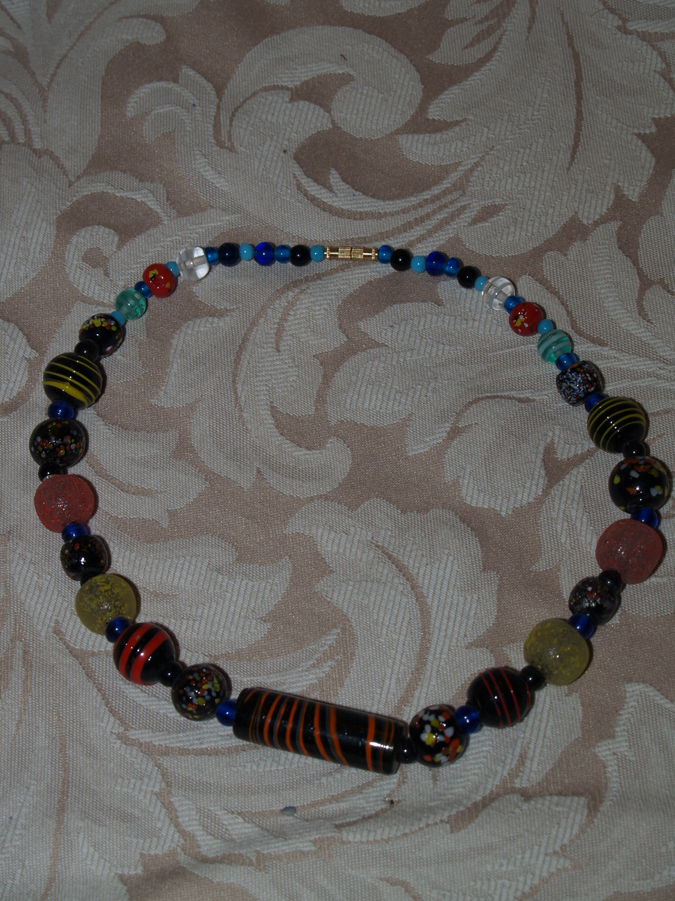 Murano Inspired Glass bead Necklace