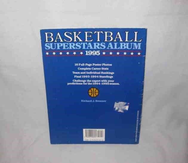 Neat 1995 BASKETBALL Superstars Album Book & Posters