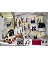 lot of Mixed Earrings Jewelry Sonoma Alabaster Kim Rogers Worthington - $49.45