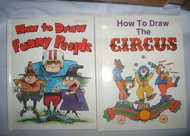 Set 2 How to Draw Funny People Bob McKay Circus Pamela Johnson Illustrat... - $9.77