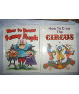 Set 2 How to Draw Funny People Bob McKay Circus Pamela Johnson Illustrat... - $9.77