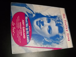 Sheet Music The Trolley Song Meet Me in St Louis Judy Garland Metro Gold... - $8.99