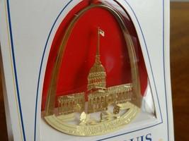 NIB Vintage Saint Louis Gateway to the West 24KT Finish Ornament Old Cou... - $20.02