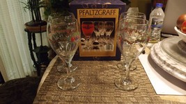 Pfaltzgraff Set of 4 Footed Holly Jpy Wine Beverage Goblets 047-176-00 - $28.68