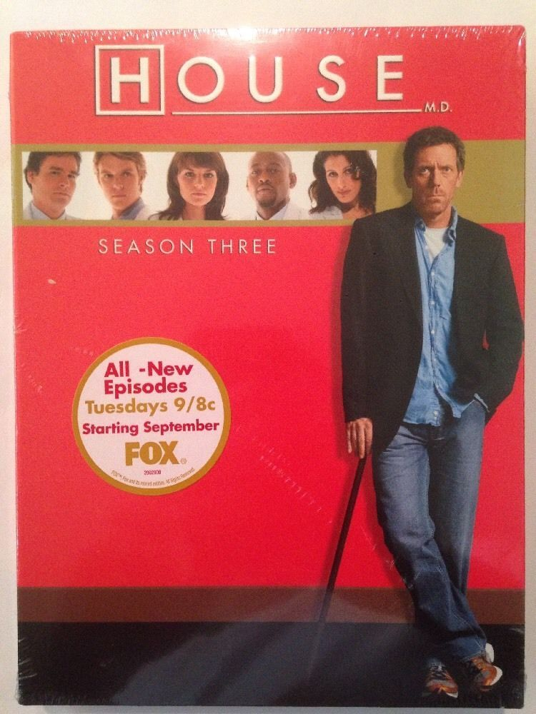 House - Complete Third Season Three 3 [DVD Set New] TV Series