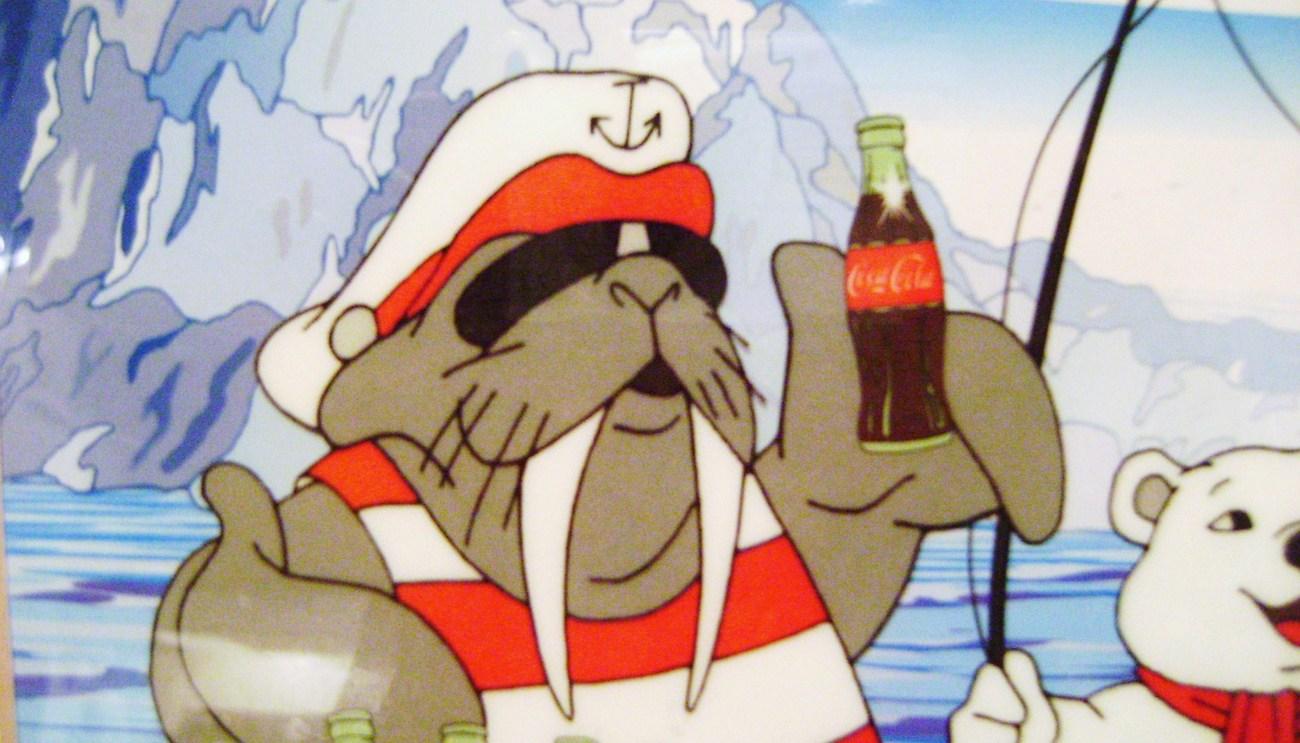 Coca - Cola  Polar Bear  & Walrus Framed Print