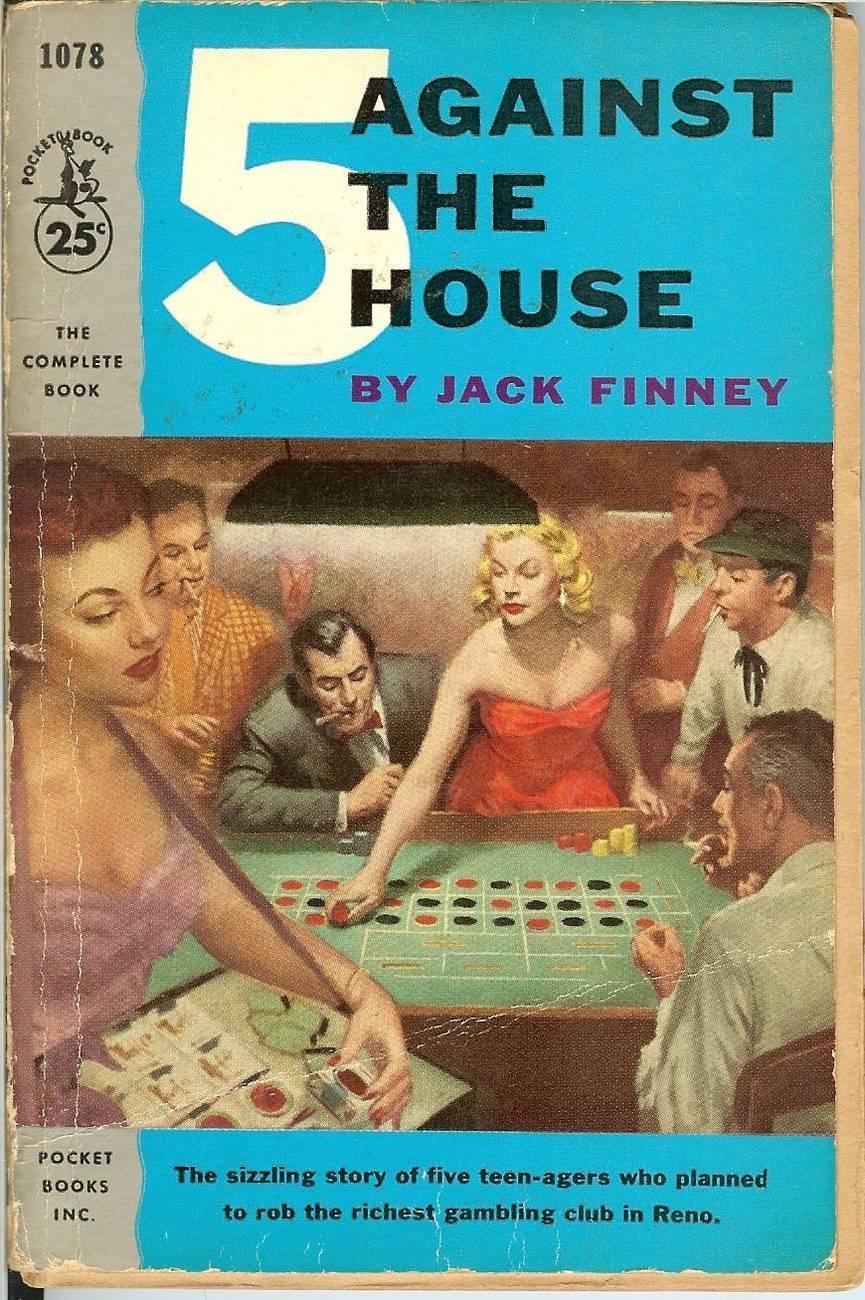 5 against the house jack finney pocket books rare vintage book