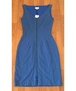 New Amy Matto Dress Size 4 Blue Zipper Front Fully Lined $348 - $99.00